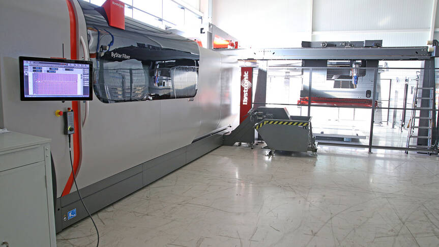 Since December 2018, the new fiber laser cutting system ByStar Fiber 4020 has been in use at MKW.