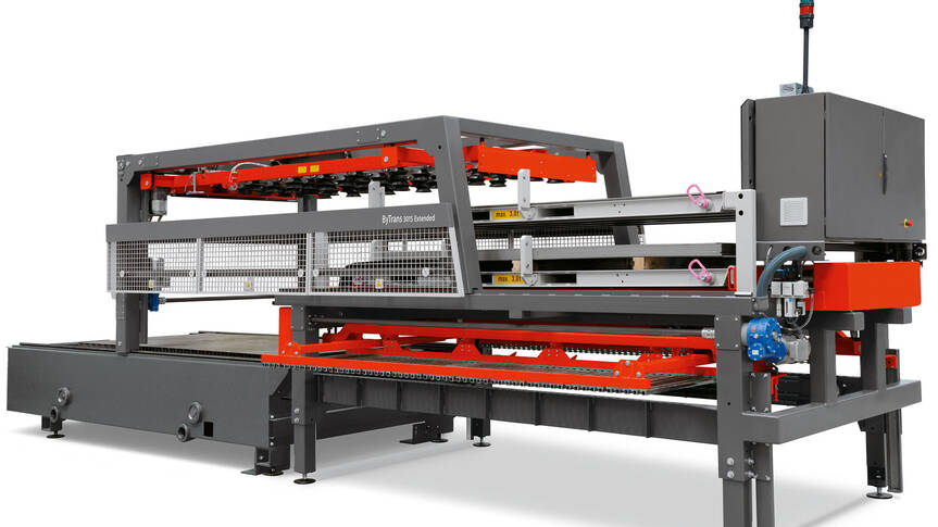 Flexible process solutions: Bystronic software and automation solutions optimally integrate the BySmart Fiber 4020 into sheet metal processing requirements.