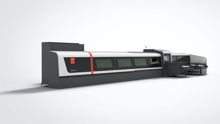 Efficiency and cutting accuracy thanks to fiber laser technology: The ByTube 130 for efficient tube processing.